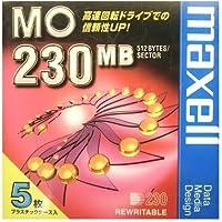 日立マクセル データ用 3.5型MO 230MB アンフォーマット 5枚パック MA-M230.B5P