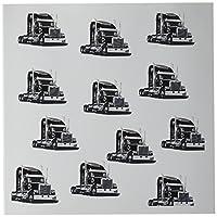 3droseセミロングホールTractors繰り返しのパターン印刷グリーティングカード、6インチx 6インチ、12のセット( GC _ 204409_ 2)