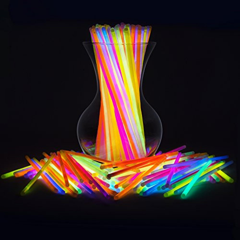 [パーティースティック]PartySticks Glow Sticks Bulk 300 Count 8 Brand Premium Glow In The Dark Light Sticks Makes Tons of Glow Necklaces and [並行輸入品]