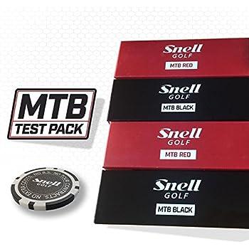 Snell Golf MTB RED & BLACK テスティング・パック(各モデル6個・計12個入り) オリジナルマーカー付(1個) 日本正規品 スネルゴルフTP