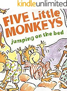 Five Little Monkeys Jumping on the Bed: Recommended for classic children's picture books (Traditional Chinese Edition)