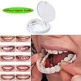 一時的な化粧品の歯義歯の歯快適な屈曲を完全に白くする化粧品の模倣された上部の支柱わずかな分のベニヤ、20PCS上部の歯