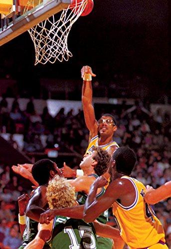 カリーム・アブドゥル・ジャバーポスター、フックショット、ロサンゼルス、Lakers、NBA、バスケットボール