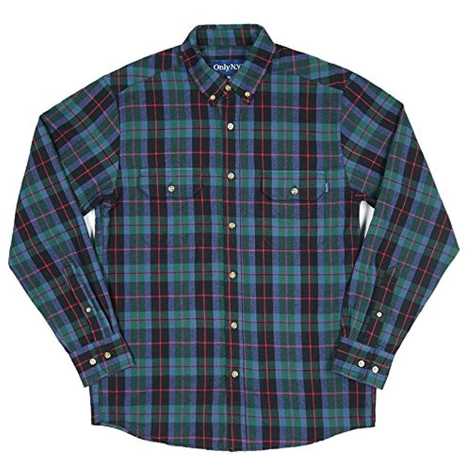 ジーンズアラブ人考えONLY NY オンリーニューヨーク ネルシャツ メンズ 長袖 XLサイズ Lodge Flannel Shirt グリーン