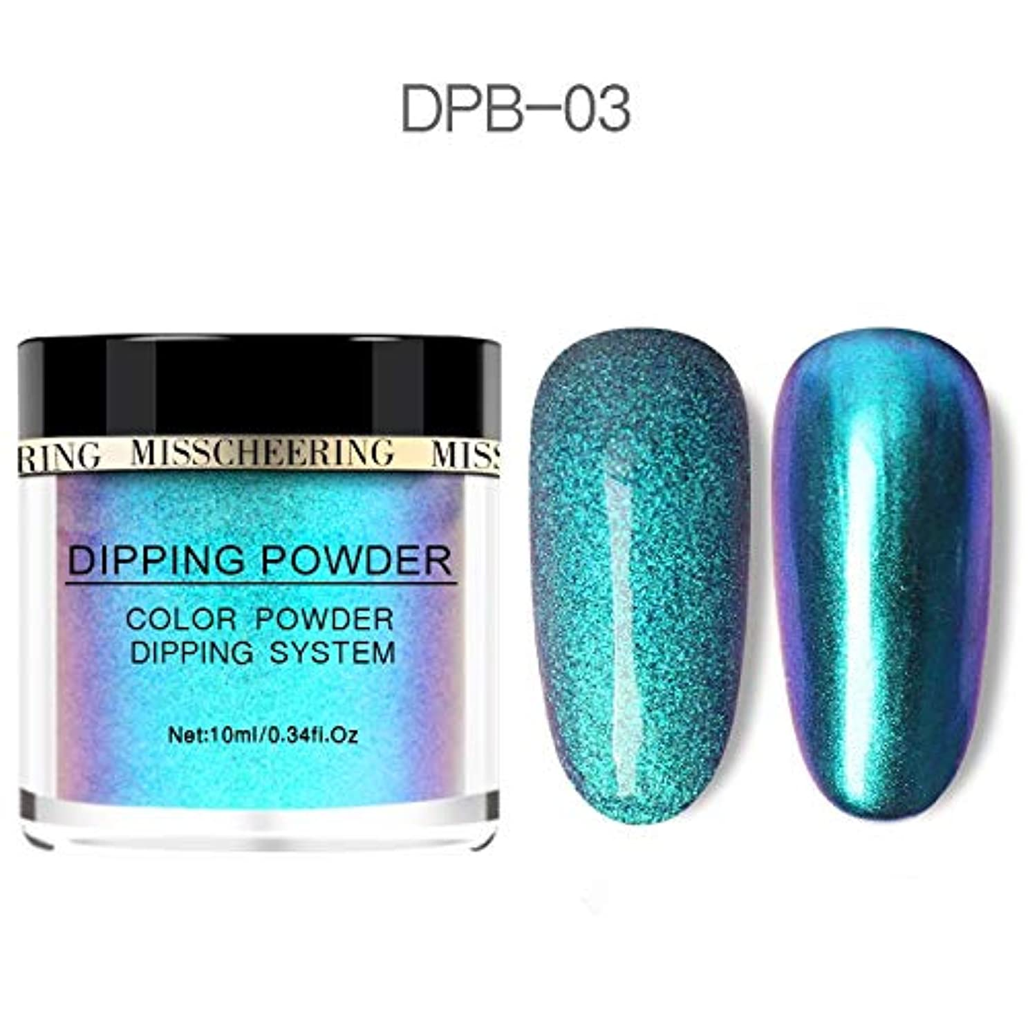 盆地生きる許すChameleon Wetting Nail Powder Dipping Glitter Decoration Holographic Color Aurora Mirror Effect Neon Glitter Natural...