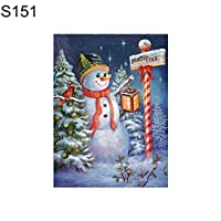 ruixuered-クリスマス雪だるまパーシャルダイヤモンド絵画クロスステッチ刺繍壁の装飾 - S151 5Dダイヤモンドアート