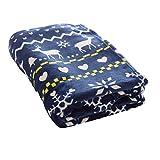 毛布 プレミアムマイクロファイバー 洗える 静電気防止 とろける肌触り ノルディック シングル ネイビー mofua fondan フォンダン