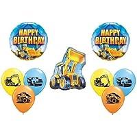 loonballoon Bull Dozer Loader Construction TRUCKS誕生日パーティー( 9 )マイラー&ラテックスバルーン