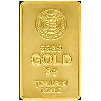 徳力 ゴールドバー 5g インゴット 日本製5gの純金 24金 Gold Bar K24 tokuriki