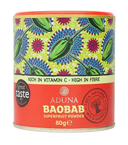 Aduna 非加熱 バオバブスーパーフルーツパウダー (Baobab Fruit Pulp Powder) 80g