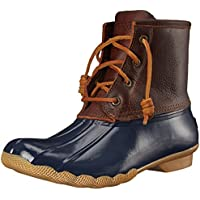 Sperry Top-Sider Women's Saltwater Boot, Tan/Navy