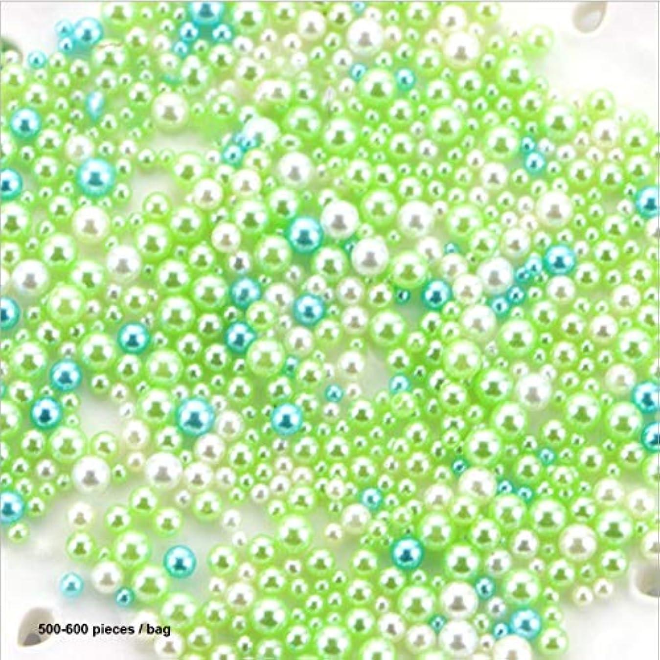 説明する面白い永遠にレジンイミテーションパールDIY粒子アクセサリースライムボールDIY用品用フロームフィラー用小型タイニーフォームビーズ-グリーン