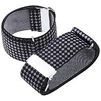 D DOLITY Men's Polka Dots Elastic Shirt Cuff Garters Anti-Slip Sleeve Holders Armband