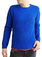 (アーケード) ARCADE 20color メンズ セーター ニットセーター クルーネック 丸首 ワッフルラーベン編みニットセーター