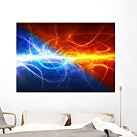Wallmonkeys Fire and Ice Abstract Wall Mural Peel and Stick Graphic (60 in W x 42 in H) WM320863 [並行輸入品]