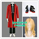 コスプレ 衣装+ウィッグ+靴 鋼の錬金術師 エドワード・エルリック セット  cosplay