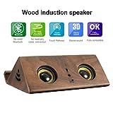 EIVOTOR スマホ 大音量 木製スピーカースタンド 置くだけ木製置くだけで音が広がる!横置き スタンド
