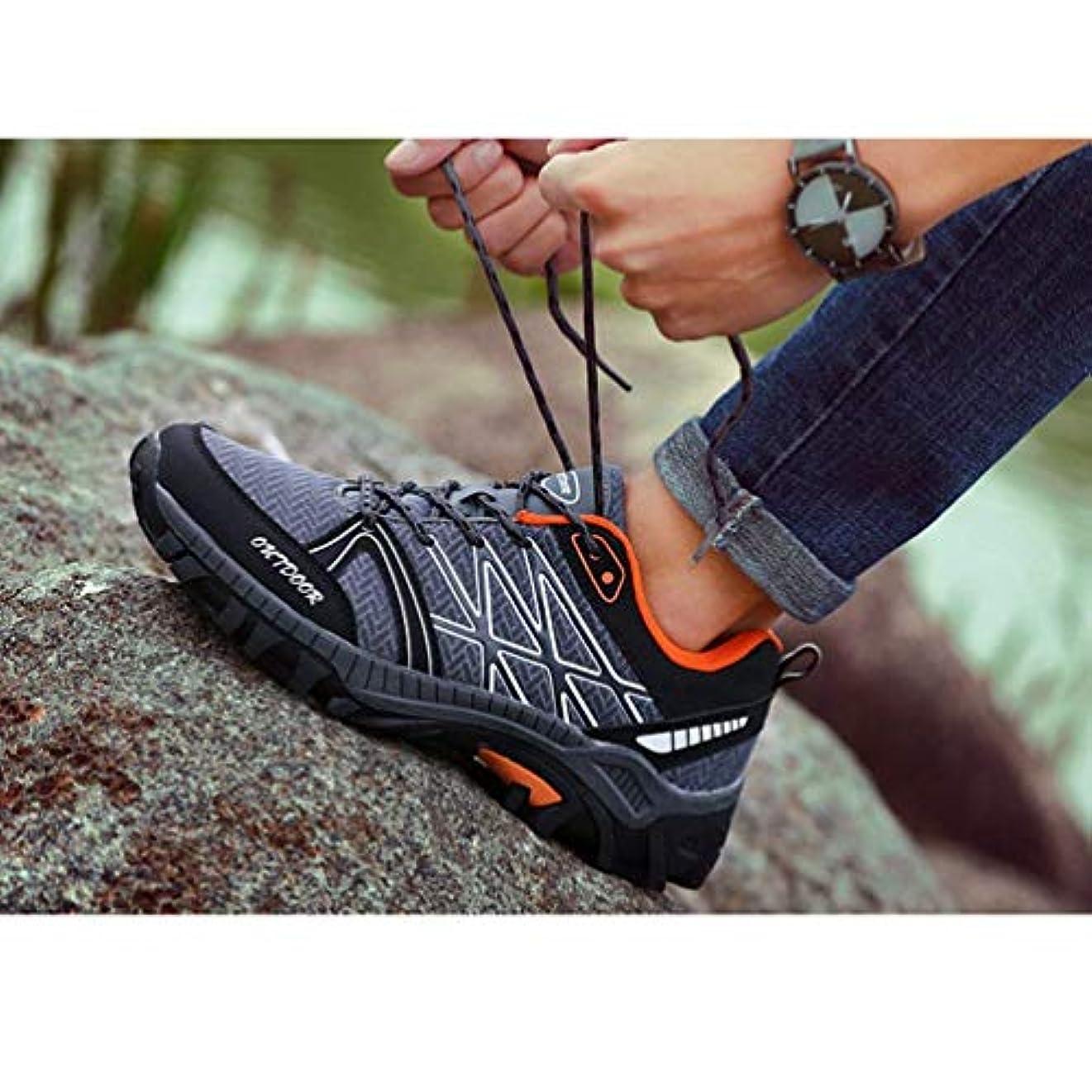 鮮やかなアフリカ聞きます[lovelyyou] 登山靴 メンズ トレッキングシューズ 山登り キャンプ ハイキング アウトドアシューズ 防滑 軽量 耐久性 通気性 ブルー グリーン グレー