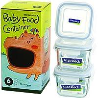 Glasslock 6-Piece Square Baby Box Set, Mini by GlassLock