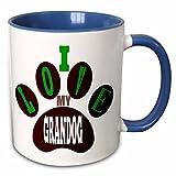 Best ベストセラーのコーヒーテーブル - 3drose 232816 6I Love My Grandog。Puppy。Best Friend。Saying。セラミックマグ、ブルー/ホワイト Review