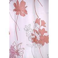 Arie(アーリエ) 遮像レースカーテン フラワー 2枚組 100×198cm ピンク