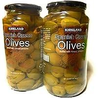 KIRKLAND (カークランド) シグネチャー SPANISH QUEEN OLIVES スパニッシュ クイーン オリーブ 大容量 595gx2