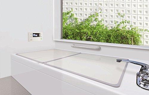 オーエ 組合せ風呂ふた 抗菌・防カビ加工 2枚組 約73×148cm L-15
