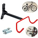 Bike Wall Mount Rack Storage Hanger - Bicycle Holder Folding Space Saver with Mounting Hardware for Garage to Dorm Room