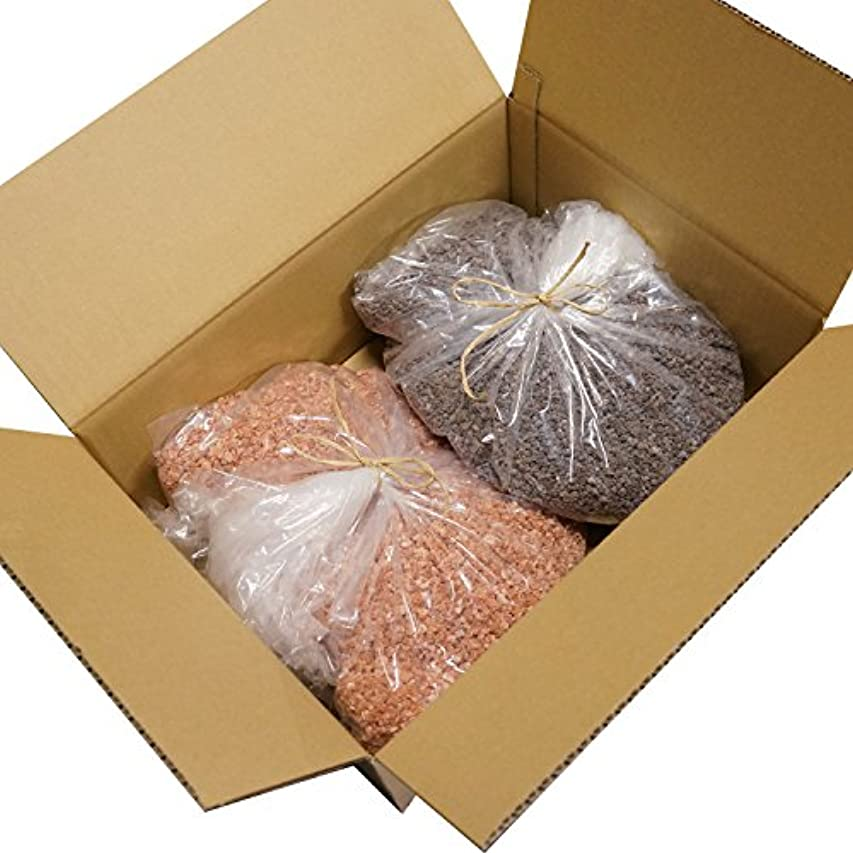 出費サンダーブロックヒマラヤ岩塩 ピンク ブラック グレイン 各 10,000g 20kg 粗粒 ミル 原料