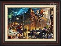 """トーマスKinkade–DC–Dark Knight Saves Gotham City 24"""" x 36""""ギャラリーProof ( G / P ) Limited Editionキャンバス 46Lx34H DrkKnt24x36GPBURL"""