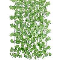 【在庫処分 】フェイクグリーン HIMETSUYA もみじ 観葉植物 アイビー 造花 インテリア 藤 壁掛け 人工観葉植物 12 本 グリーン 飾り