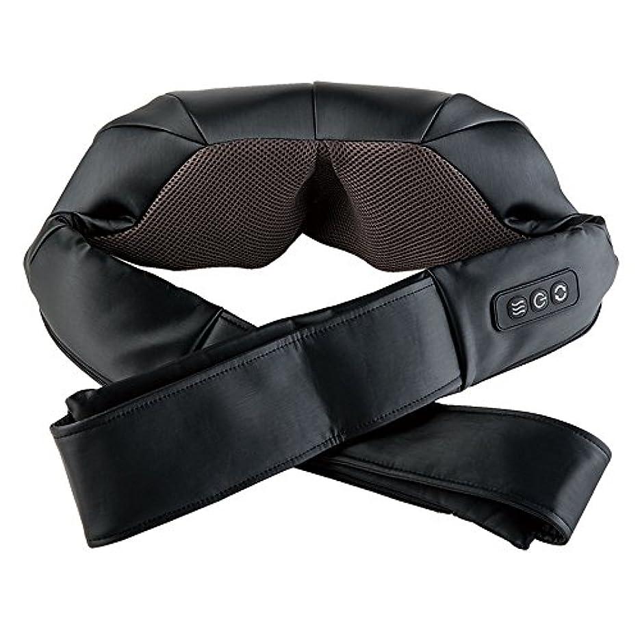 オン肘掛け椅子登録ドクターエア 3Dネックマッサージャー (ブラック) MN-001BK