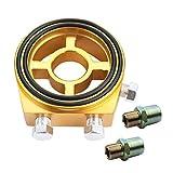 【kazutoku】 オイル ブロック 油温 計 センサー サンドイッチ センター ボルト ゴールド