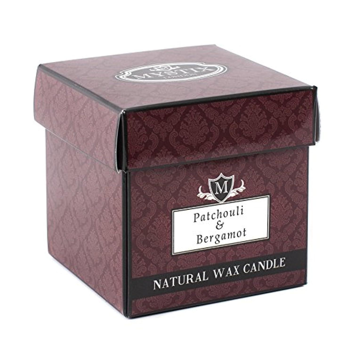 舌な効率的に適合Mystix London   Patchouli & Bergamot Scented Candle - Large