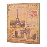 フォトアルバムDiyののり付けアルバム、記念日のスクラップブック、結婚式の写真観光愛(カラー:White Inner Page、サイズ:30.8X24X3.3Cm)
