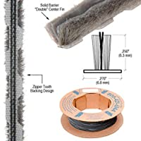 "ジッパーPile Weatherstrip .270 "" Backing – .250 "" Pile高さ – 100 'ロール"