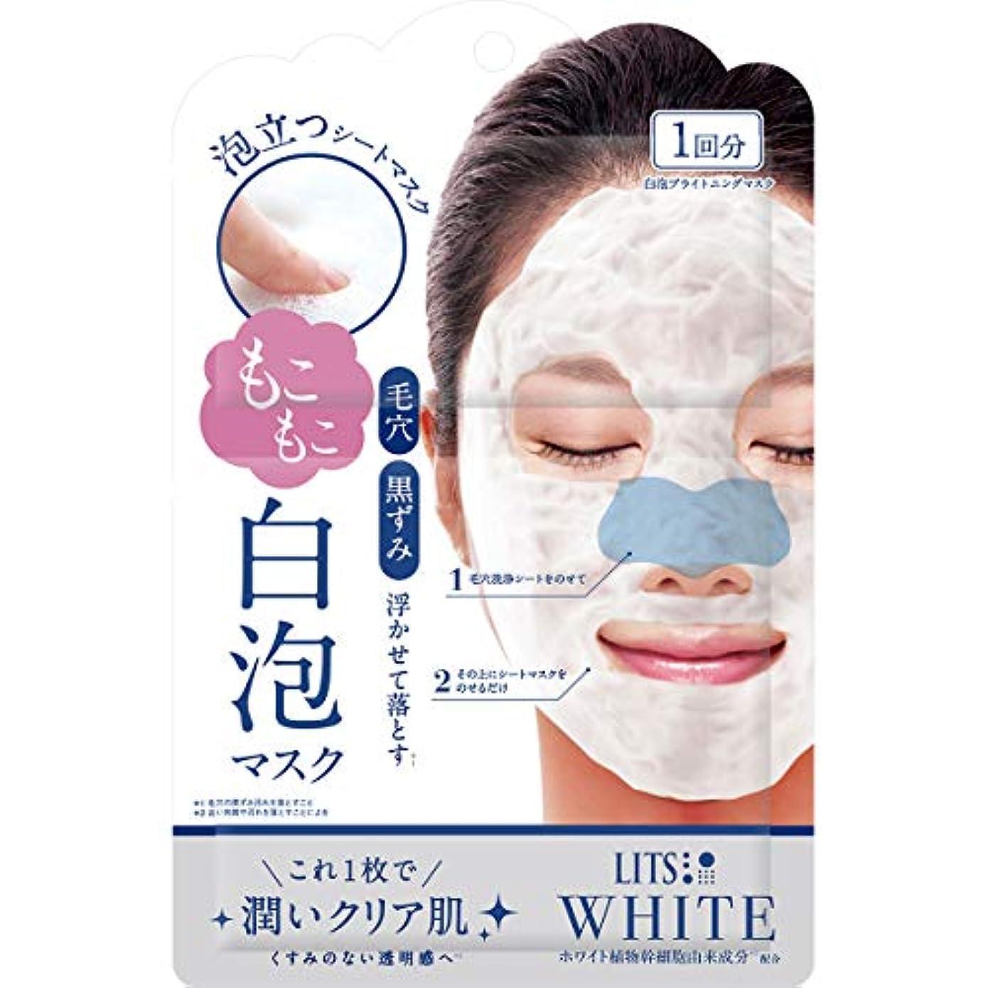 暗殺音楽を聴く電気陽性リッツ ホワイト もこもこ白泡マスク 1枚