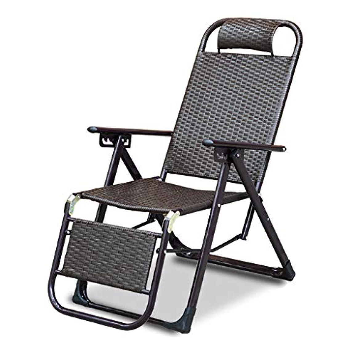 経過治す合意屋外の藤の怠惰なリクライニングプールのサンラウンジャーの椅子、ゼロ重力の折り畳み式のデッキのリラクサーのリクライニングチェアのロッキングチェア調節可能なあと振れ止めのためのクッション家具ガーデンパティオビーチ、200キログラムの負荷、160x58x45cm