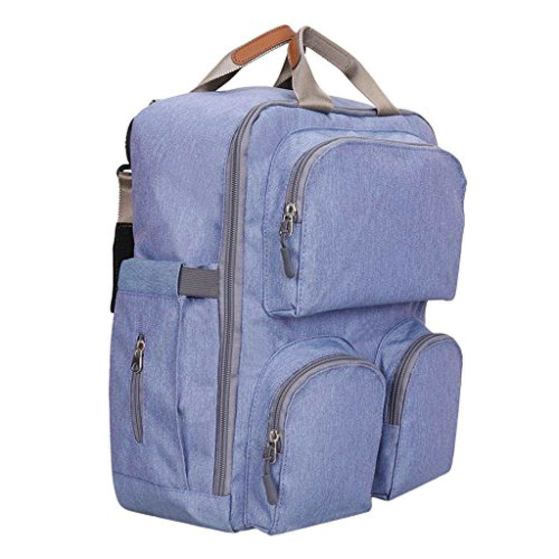 SONONIA 大容量 ママリュック  ベビー用品収納 マザーズ 看護 バッグ ベビー おむつ おむつバッグ バックパック 旅行 全2色 - 青紫
