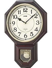 MAG 西洋館(せいようかん) ウォールクロック 振子時計 ブラウン W-670 BR