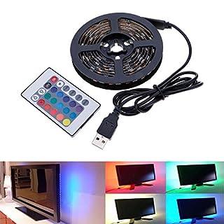 防水 LEDテープライト LEDテープ型 リモコン操作 ノートパソコン/ TV バックライト 自転車のホイールライト RGB 5050SMD 60LED 変色ライト 0.5M