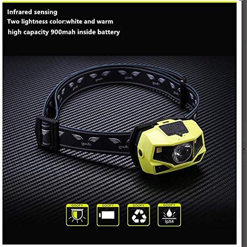 熟考する権限を与えるささいなヘッドランプは、LEDボディモーションセンサーヘッドランプミニUSBでの充電とヘッドライト充電式懐中電灯アウトドアキャンプヘッドトーチランプ ヘッドライト