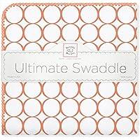 SwaddleDesigns Ultimate Receiving Blanket, Mod Circles, Orange [並行輸入品]