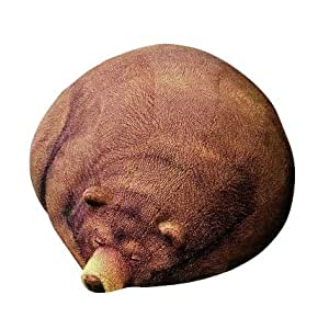 まったりまどろみ中のくまさんのアニマルフロアクッションスツール(Chic Sin Design チック シン デザイン) インテリア 日用雑貨 雑貨 家具 ソファ クッション くま ビーズクッション ぬいぐるみ 座布団 寝具 小物 置物 ユニーク オブジェ 手芸 スリーピンググリズリーベア Big Sleeping     Grizzly Bear Beanbag