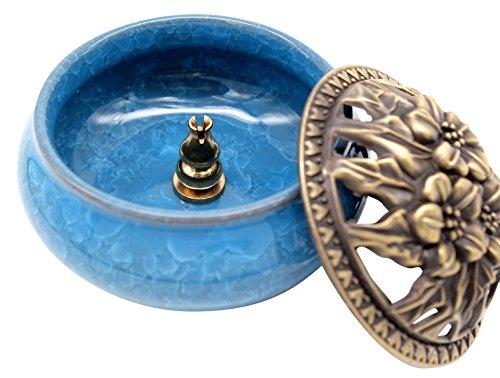 [해외](Chouchou) 도자기 향로 향 서있는 직경 9.5cm 아로마 도자기 (하늘색)/(Chouchou) Porcelain incense burner incense inches with diameter 9.5 cm Aroma ceramics (light blue)