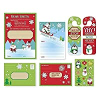 Letter To Santa Kit - New For Christmas 2017- With Envelopes Stickers and Door Hang (1 kit) [並行輸入品]