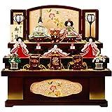 雛人形 五人揃収納飾り 【光悦】セット(5人)[幅64cm] 花梨塗 引出し式[sb-18-246] 雛祭り