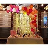 バルーンアーチ&ガーランドキット - ブラッシュピンク風船 サンゴバルーン ベビーピンク風船 バルーンアーチ&ガーランドストリップツール 結婚式/ベビーシャワー/卒業パーティーデコレーション用 120個