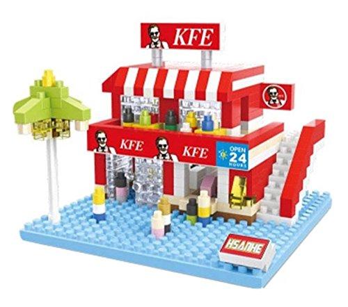 HSANHE ミニストリートブロック No.8518 KFC ケンタッキーフライドチキン? パロディ