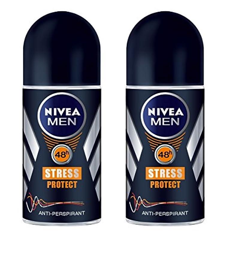 狂人誇張する計画的(Pack of 2) Nivea Stress Protect Anti-perspirant Deodorant Roll On for Men 2x50ml - (2パック) ニベア応力プロテクト制汗剤デオドラントロールオン...